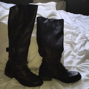 Shoes - Knee high boots brown
